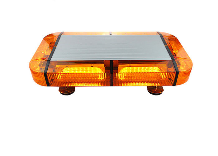 12v Police Red Amber Emergency Light Bar , Led Warning Lights For Emergency Vehicles